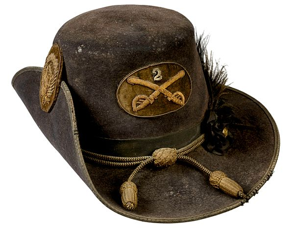 aef25c16 Pattern 1858 2nd Cavalry Officer's Hat Fully Trimmed | Civil War ...