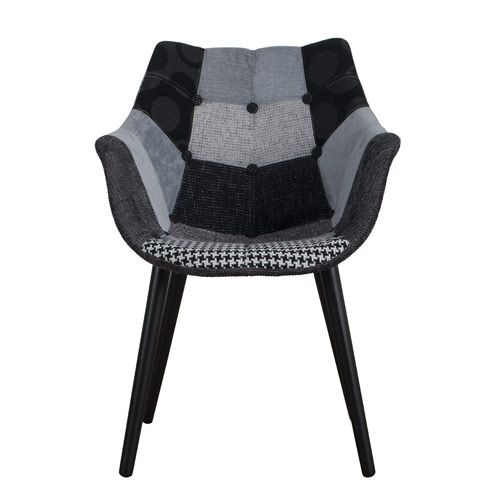 fauteuil en tissu finition patchwork gris eleven zuiver deco maison pinterest fauteuils. Black Bedroom Furniture Sets. Home Design Ideas