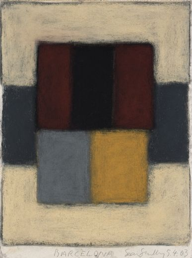 Sean Scully - Barcelona 5.4.03, 2003.  Pastel on paper  29.9 x 22.6 in (75.9 x 57.4 cm)