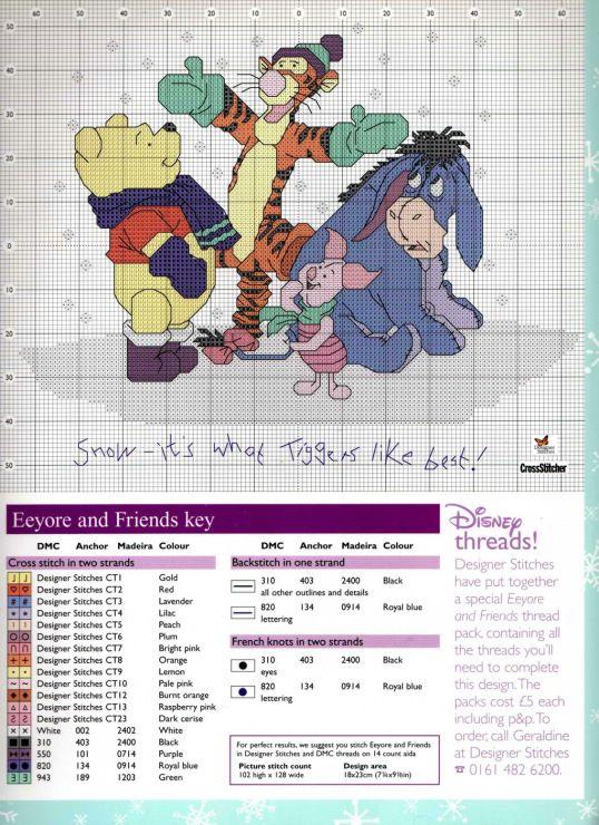 Pooh & Friends | crafts | Pinterest | Punto de cruz, Bordado and ...