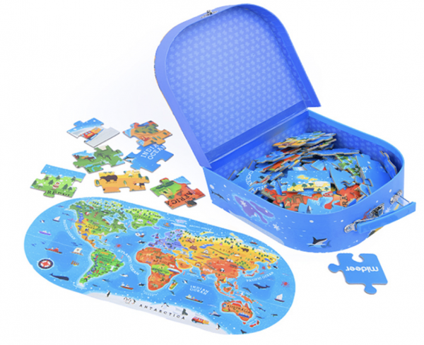 Our World Map Floor Puzzle 100 Pieces Gender Neutral Toys World Map Puzzle World Map