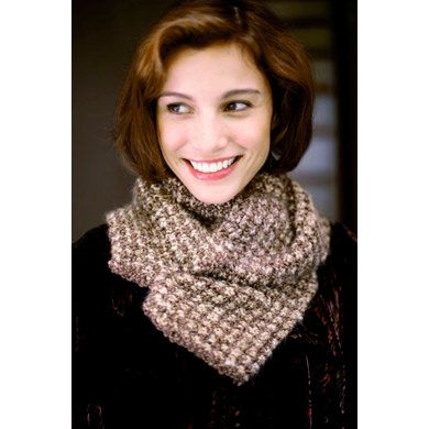 Two Color Tweed Scarf In Lion Brand Homespun 80987ad Knitting