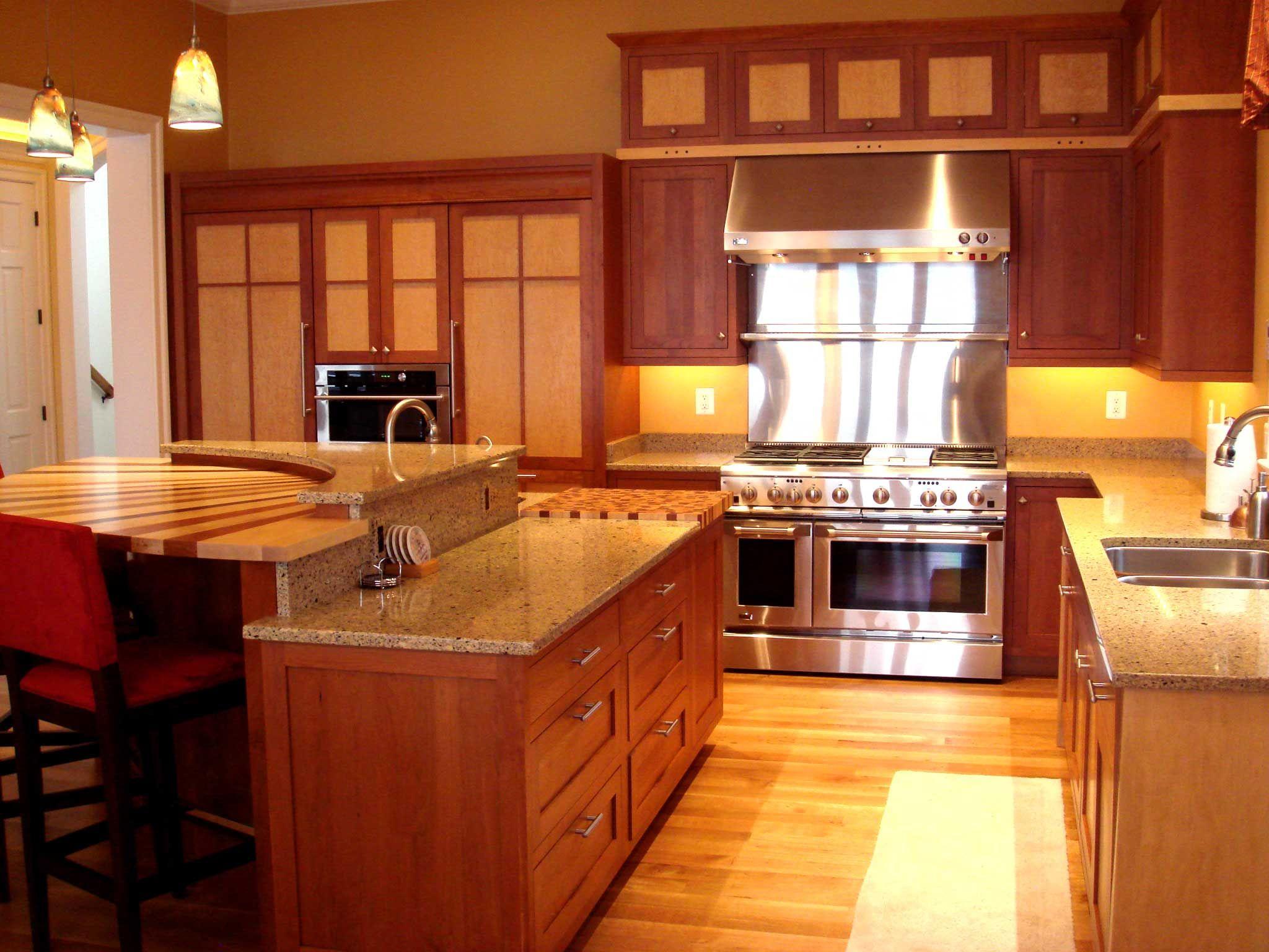 Kitchen Design Granite Alluring Light Medium Tone Wooden Cabinet And Kitchen Island Granite Design Inspiration