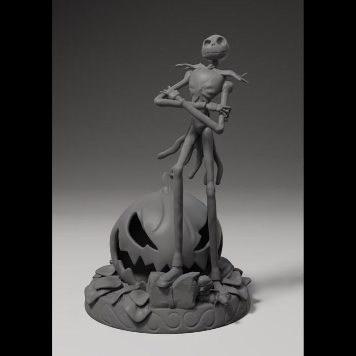 3D Printable Jack Skellington by Sergio Jack skellington