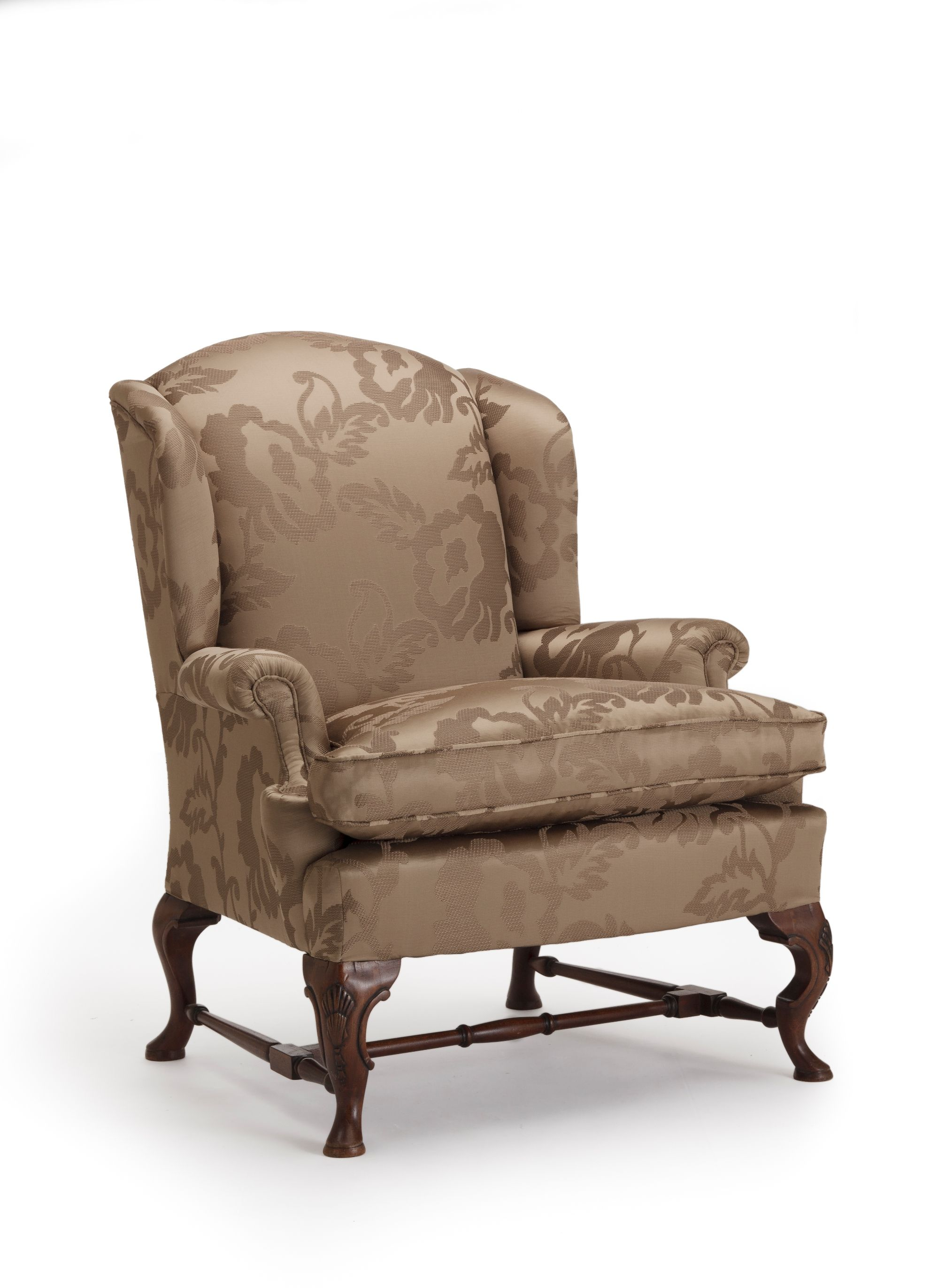 queen anne wing chair by the odd chair company