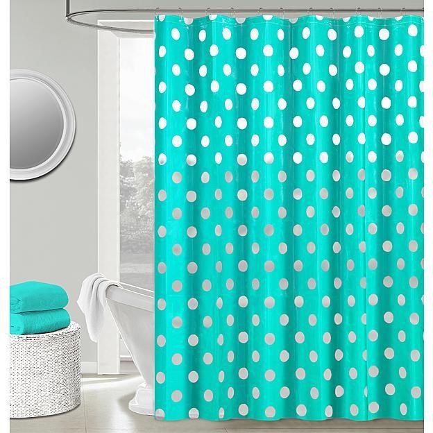 Peva Polka Dots Shower Curtain Set
