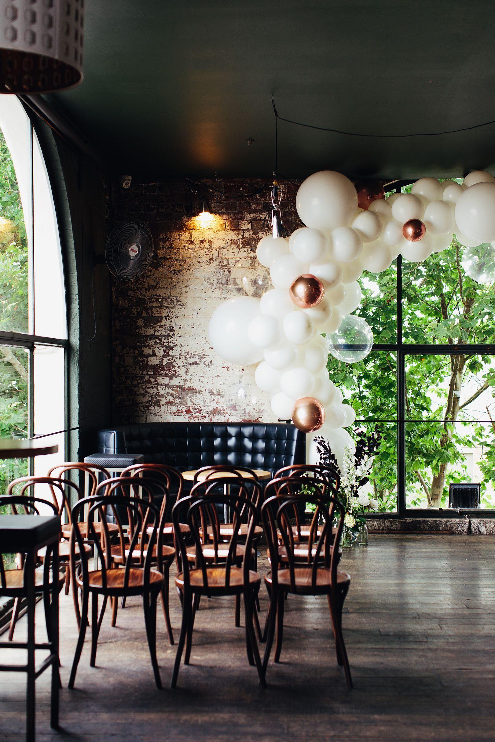 Balloon arch at a wedding  #balloonarch A beautiful balloon arch at a wedding in Panama Dining Room in Melbourne. #balloonarch