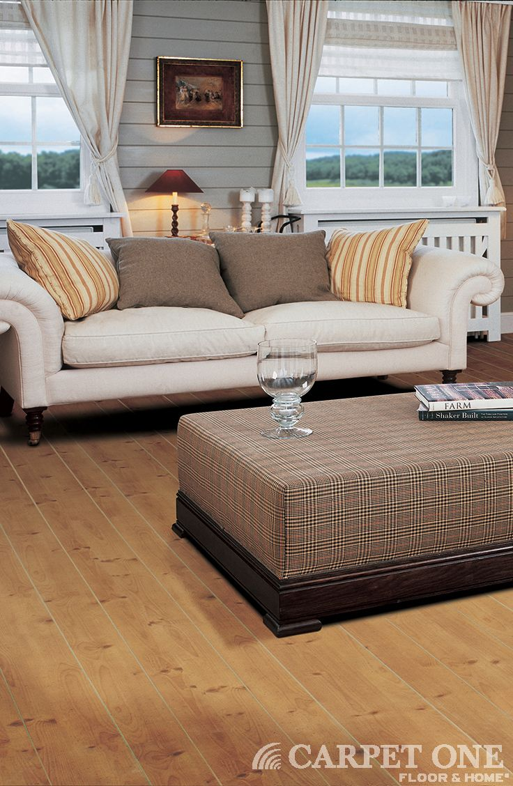 Laminate is a great option for rooms you really live in - Laminate wood flooring in living room ...