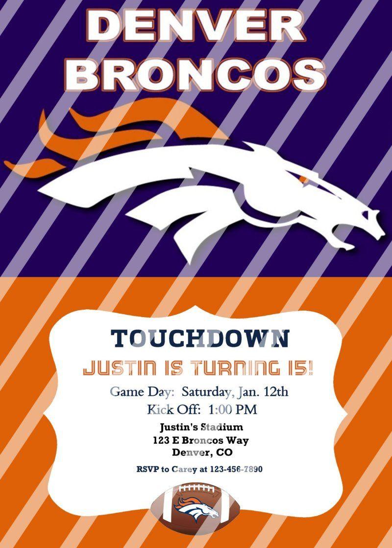 Denver Broncos Personalized Party Invitation #6 (digital file you ...