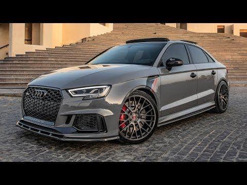 All Cars New Zealand Video Audi Rs3 Sedan Carbon Fiber Bodykit Nar In 2020 Audi Rs3 Audi Nardo Grey