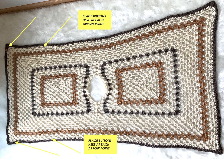 Sedona Granny Stitch Poncho Free Crochet Pattern — Stitch & Hustle