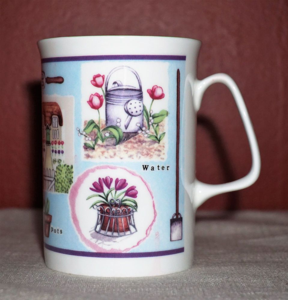 New Rose Of England Garden Fine Bone China Made In The Uk Coffee Mug Tea