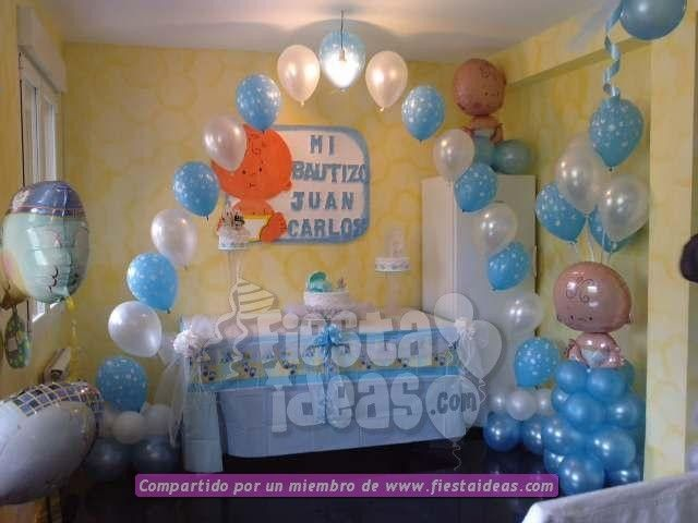 Ideas para decorar un bautizo fiesta de bautizo pinterest for Decoracion casa shower