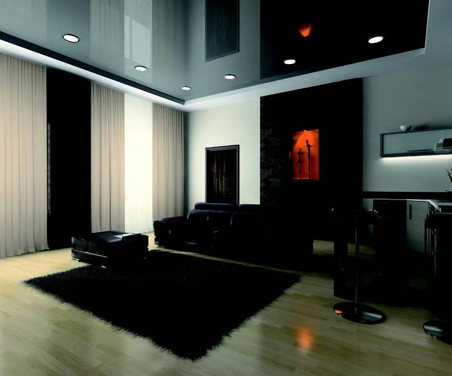 Mit LED Rundleuchten gestalteter Wohnraum