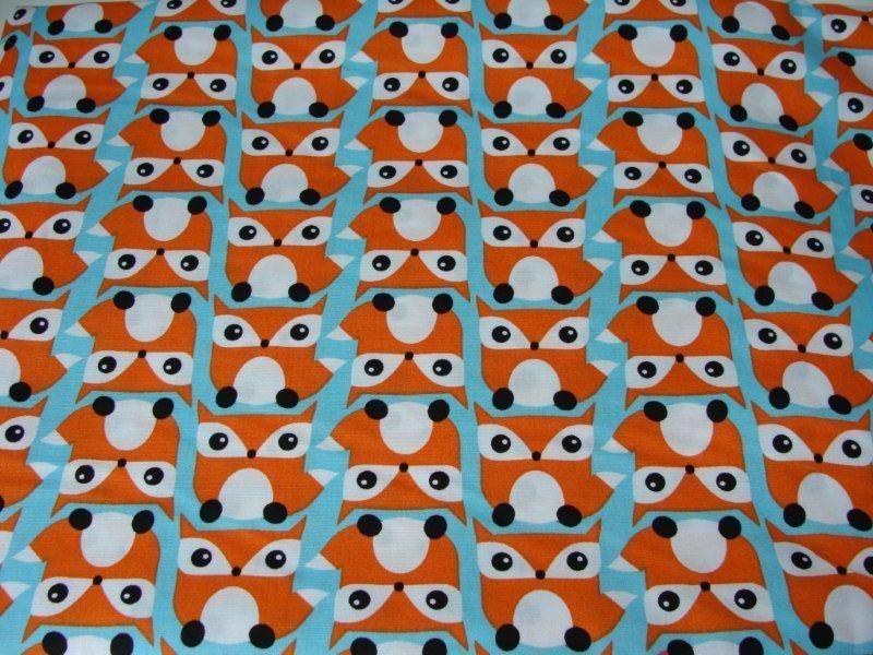 Telas infantiles - Fox popelin ♥ orange ♥ scandinavian design RETRO - hecho a…