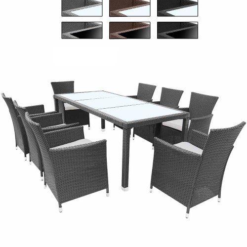 Jago Stzg30 Mw 05 17 Pc Rattan Table Chair Set Different Colours Grey Online Kaufen Bei Woonio Mobelideen Gartenmobel Mobel