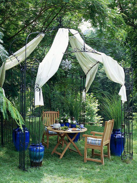 ideen gartengestaltung günstig einrichten gartenlaube Garten