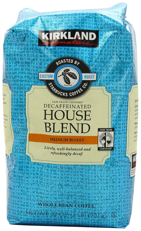 Kirkland Signature Decaf House Blend Coffee 2 lb. *** You