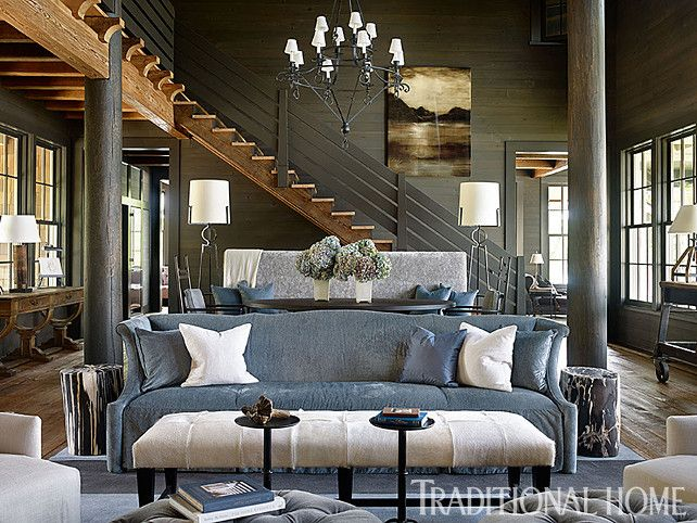 Living Room Transitional Living Room With Rustic Decor Rustic