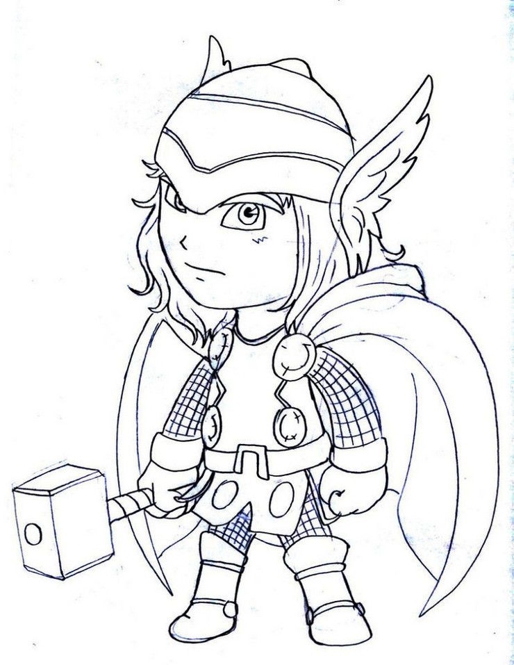 Thor Coloring Pages Lego