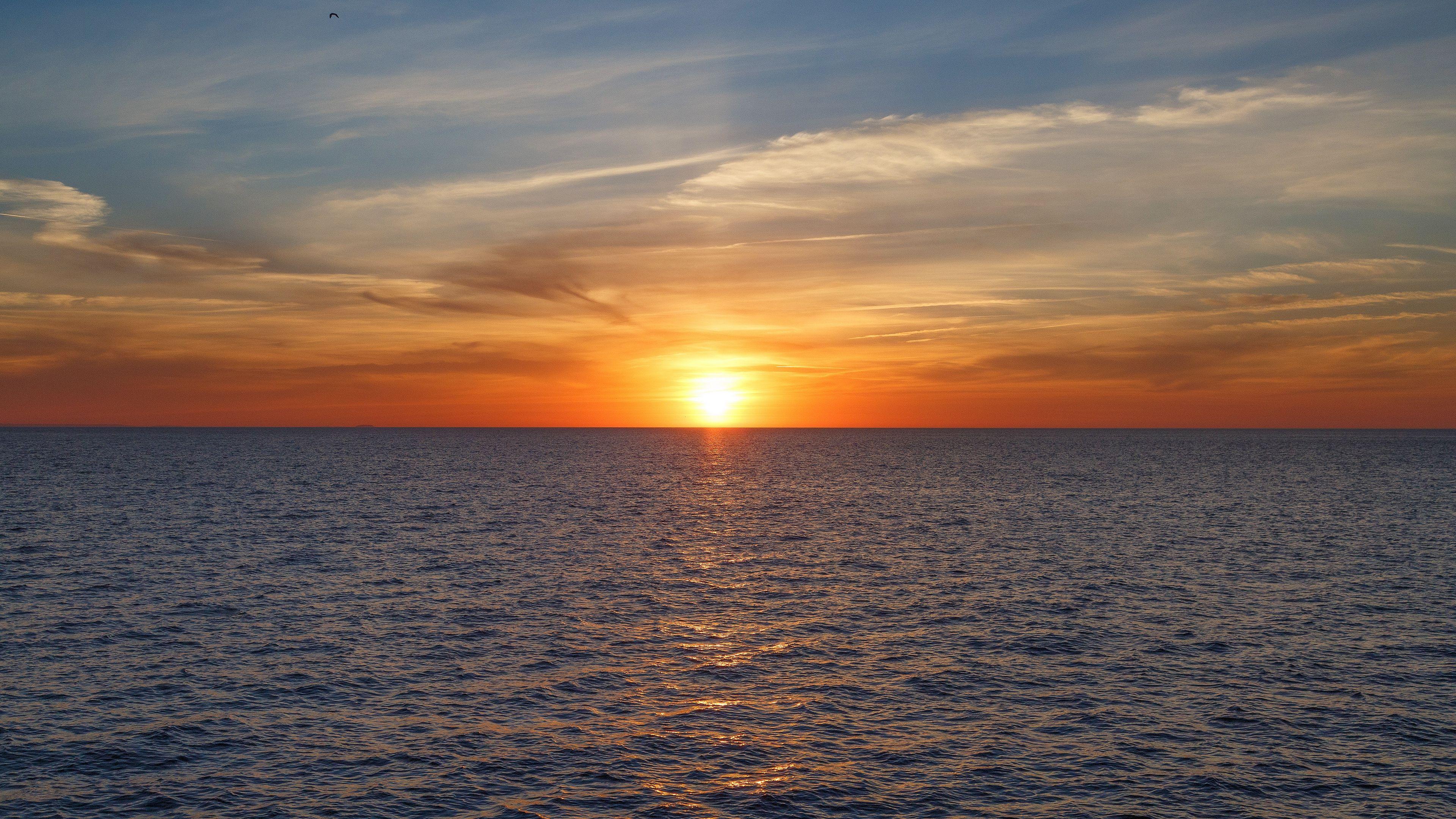 Sunset Sea Sky Clouds 4k Sunset Sky Sea Sunset Clouds Sky Hd wallpaper sea sunset clouds sky