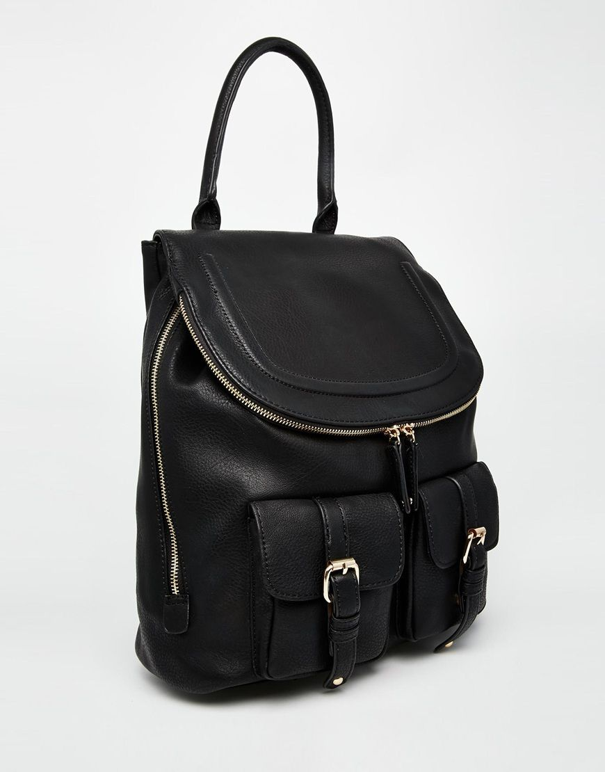 399da666fb4e Image 2 of ALDO Black Backpack with Top Handle and Double Pockets ...