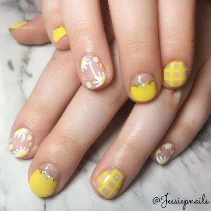 30 amazing yellow nail art ideas for short nails  yellow