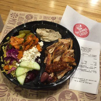 Quick Paleo-Friendly eats - The Hummus & Pita Co.  on Chambers St.,  NYC.  It's like Chipotle, except Middle-Eastern food instead of Mexican!