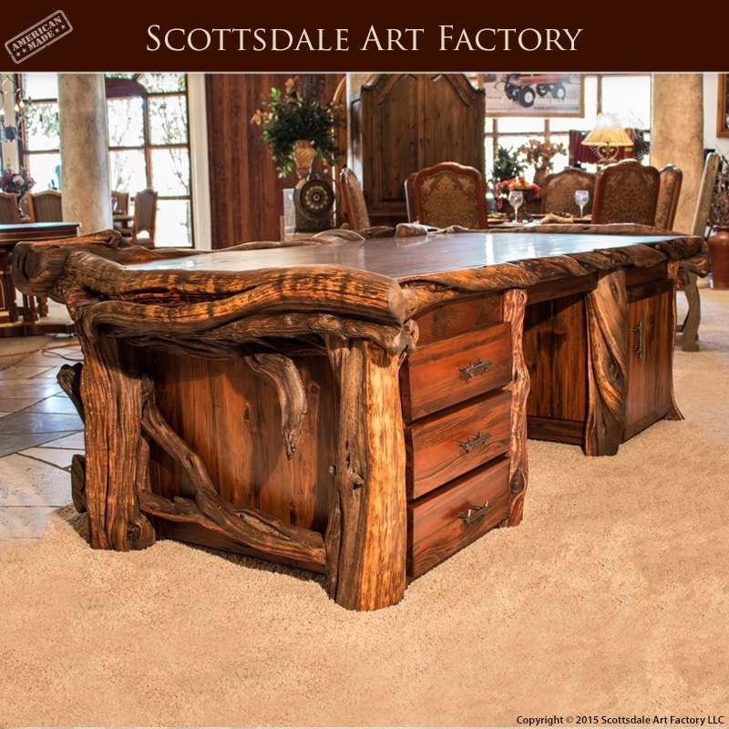 Custom furniture king beds leather sofas unique for Unique wood kitchen tables
