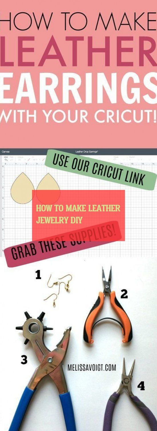 How To Make Leather jewelry diy