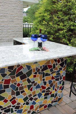 Tile Tuesday Mosaic Kitchen Countertop Idea Outdoor Kitchen
