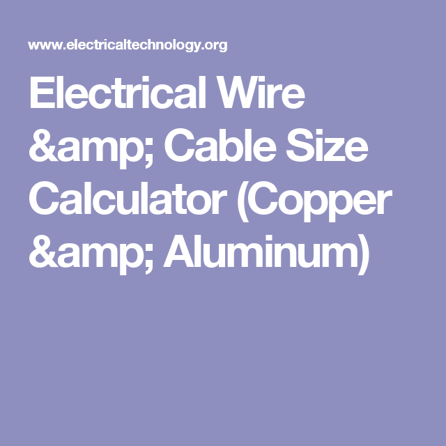 Electrical wire cable size calculator copper aluminum electrical wire cable size calculator copper aluminum electrical technology greentooth Images