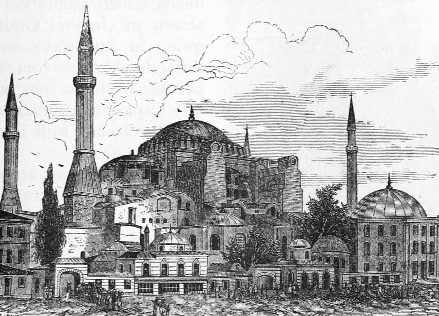 Ayasofya Camii Gravuru 1876 Bizans Mimarisi Resimler Mimari Cizim Taslaklari