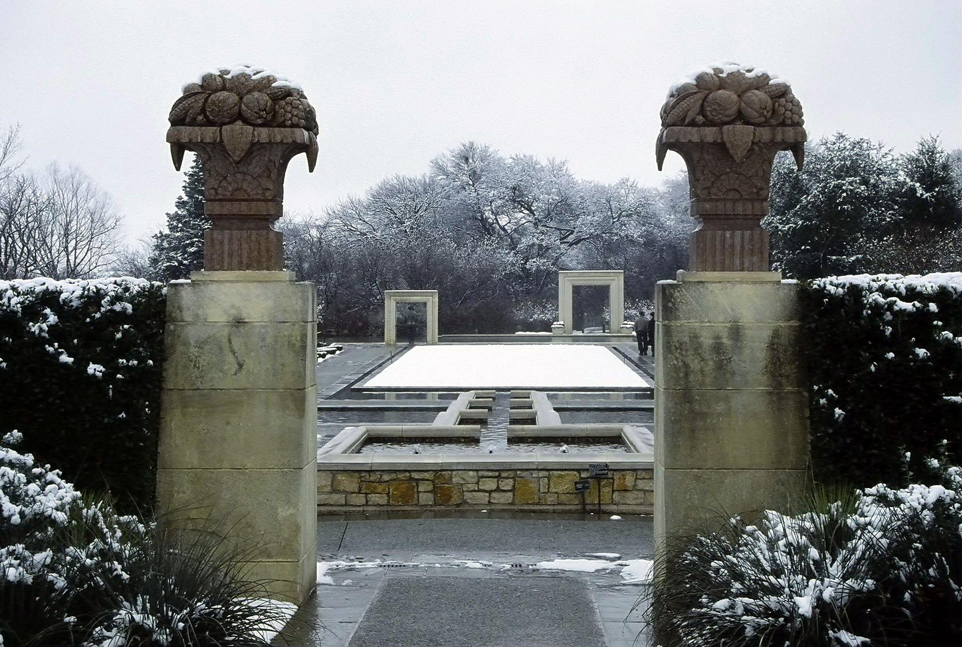 dallas arboretum winter scene in a woman u0027s garden snow garden