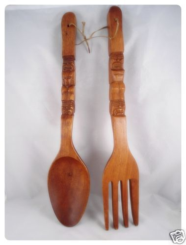 Wooden spoon fork wall decor