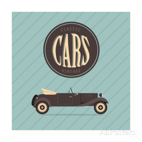 Vintage Classic Car Lámina