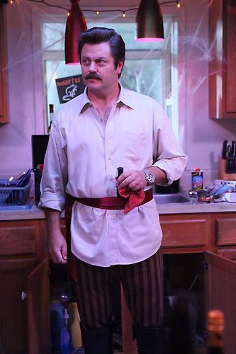 ron swanson as a pirate parks and recreation parksandrec halloween in pawnee pinterest. Black Bedroom Furniture Sets. Home Design Ideas