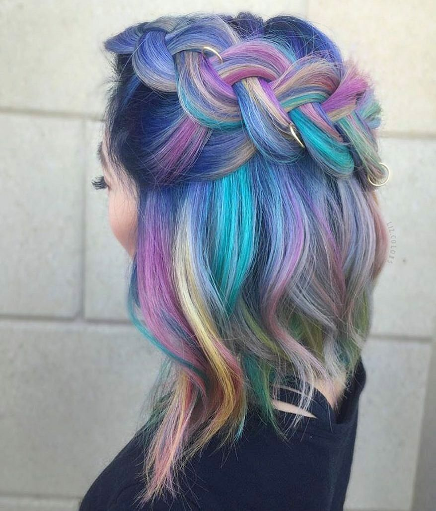 rainbow hair color that will make you look attractive