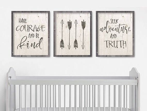 Nursery Arrow Wall Art Rustic Boy Decor