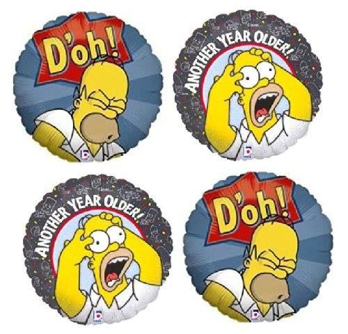 The Simpsons 4 Homer Simpson Birthday Mylar Balloons Homer