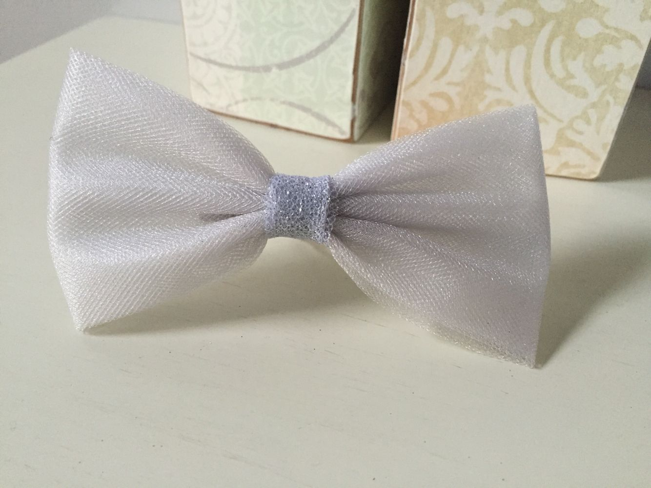 Silver Tulle bow $5.