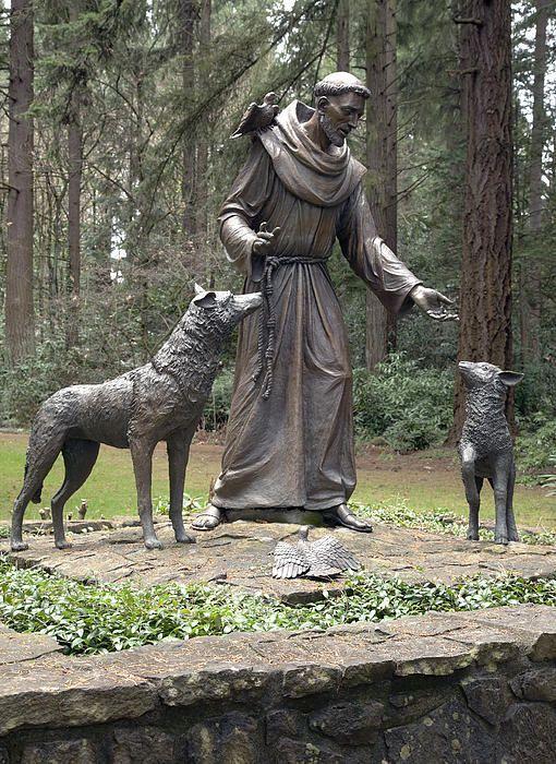 Francis Of Isi St Chicago Patron Saints Wood Print Garden