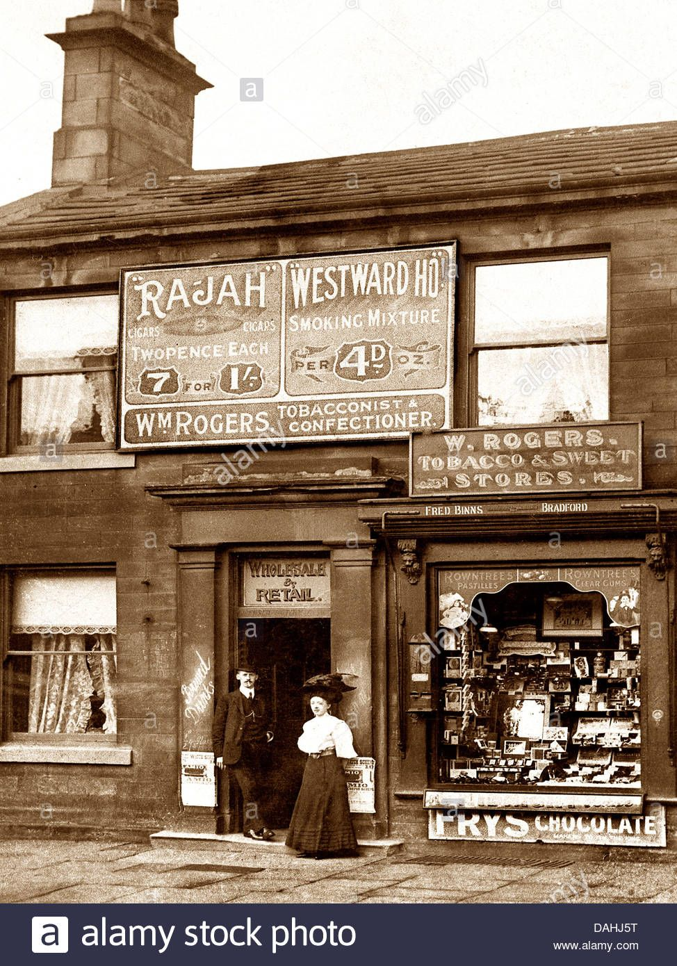 Tobacconist and Sweet Shop Victorian period Stock Photo, Royalty ...