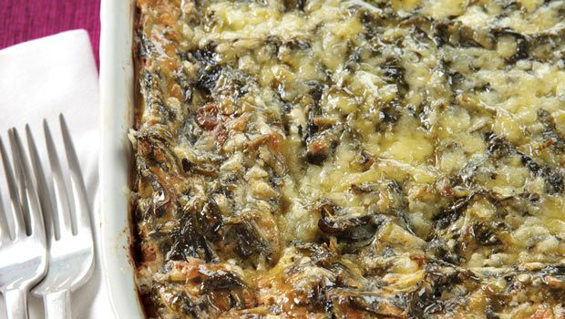 Spinach-cheese casserole