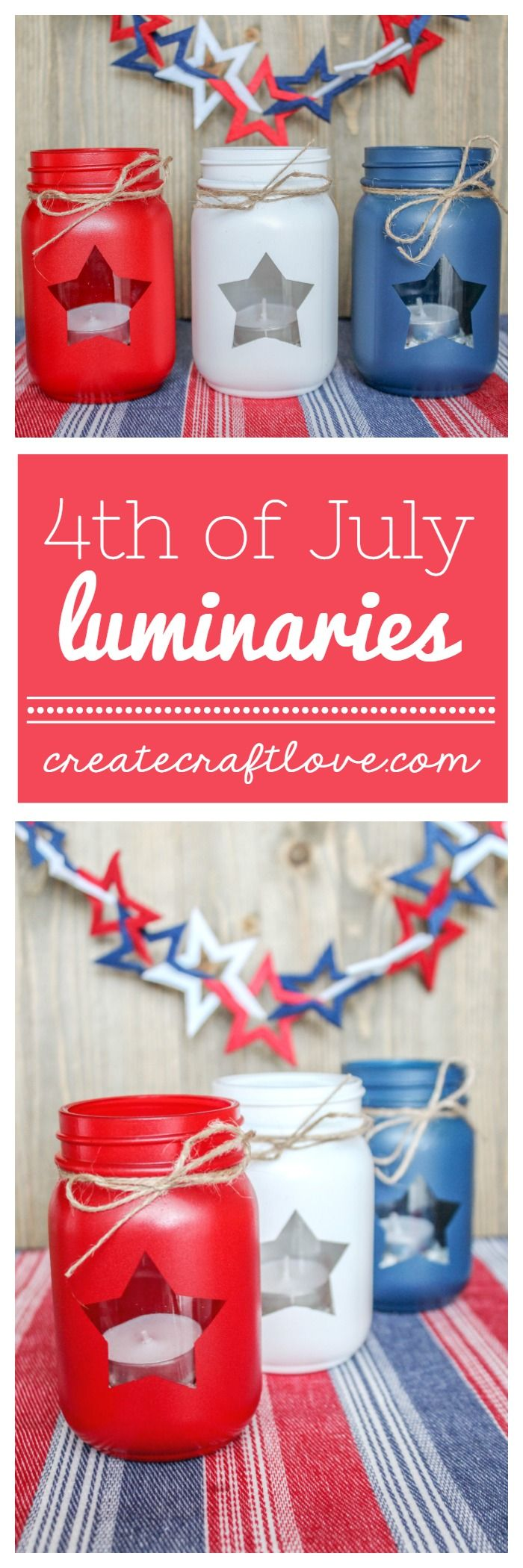 Patriotic mason jar lanterns pinterest mason jar lanterns jar