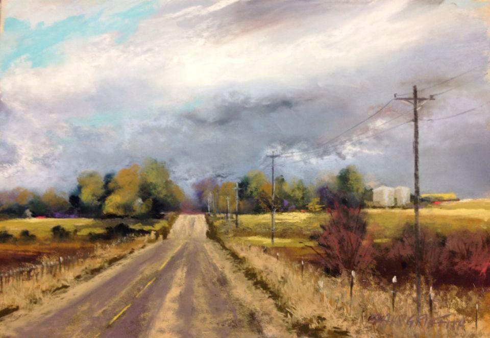 Rain Clouds12x18 pastel Bonnie Zahn Griffith