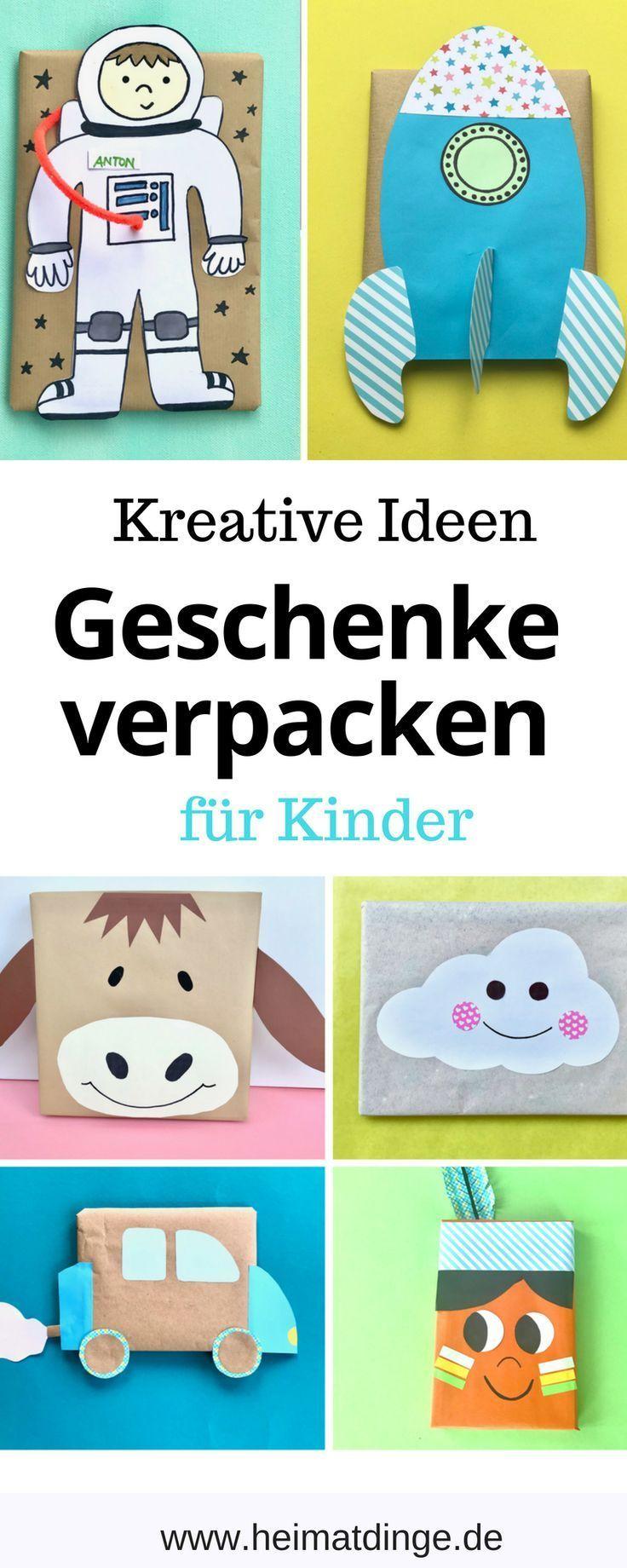 Geschenkverpackung Kindergeburtstag – 12 kreative und originelle Verpackungsideen für Kindergeschenke - % %