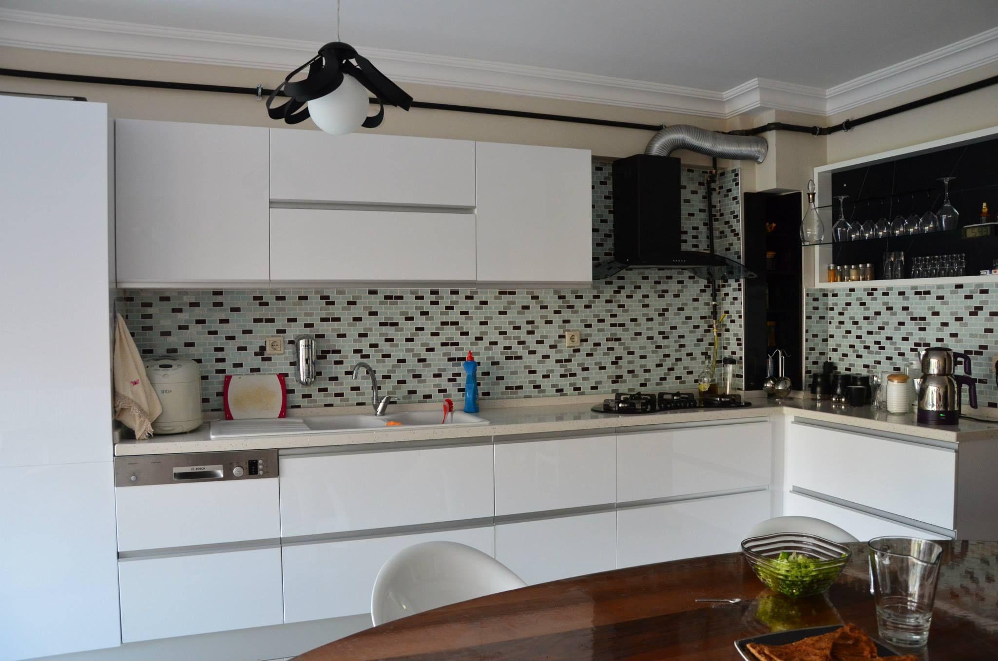 mutfak tasarımı kitchen design white cabinet minimalist