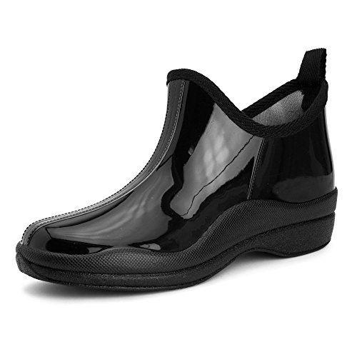 Zapatillas para lluvia Clarks Muckers para mujer, Negro Nubuck, 6 M US