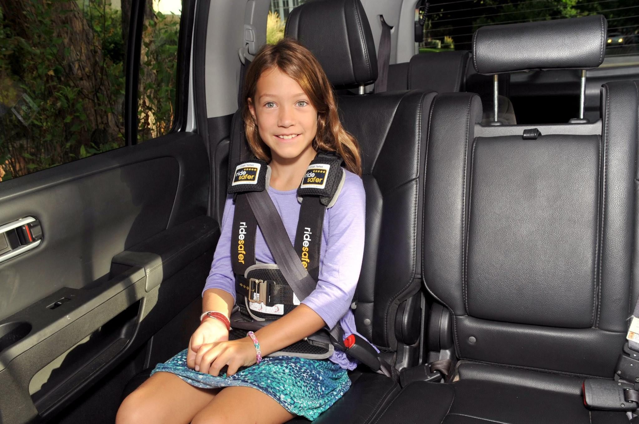 car seats big kids need to be safe too ridesafer for big kids who still need the